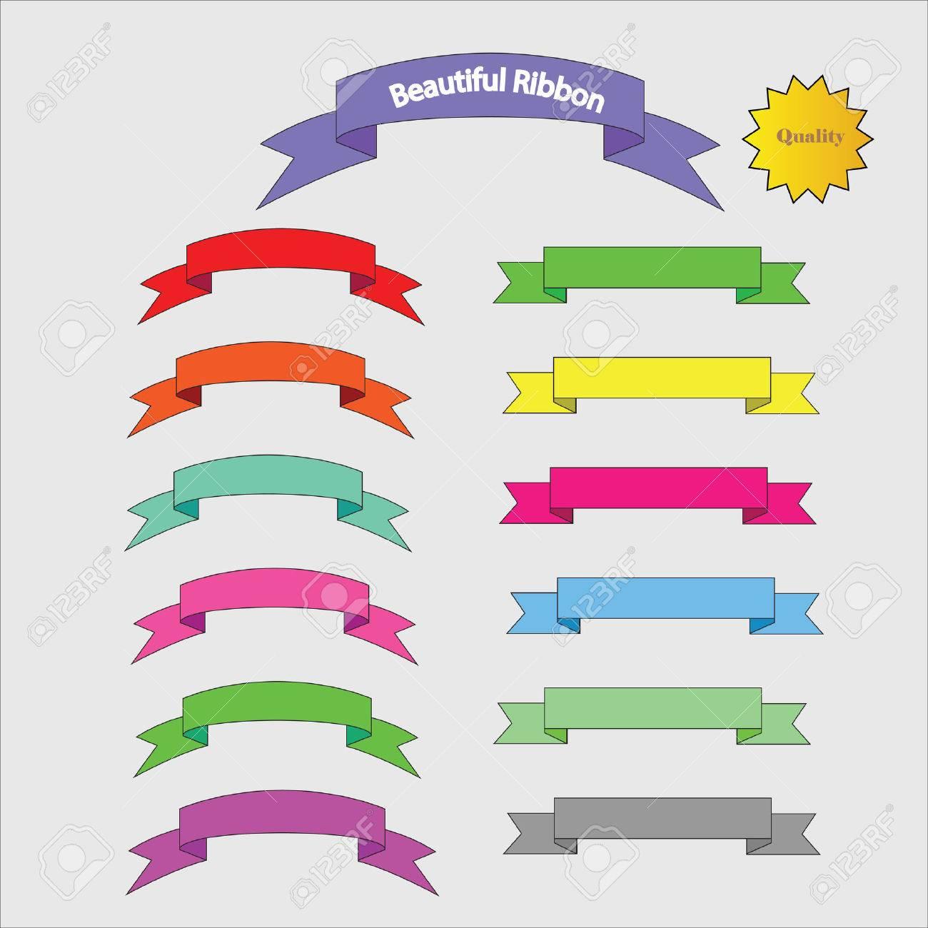 set of banner set of ribbon banner vector ribbon vector vector rh 123rf com banner vector free download banner vector file