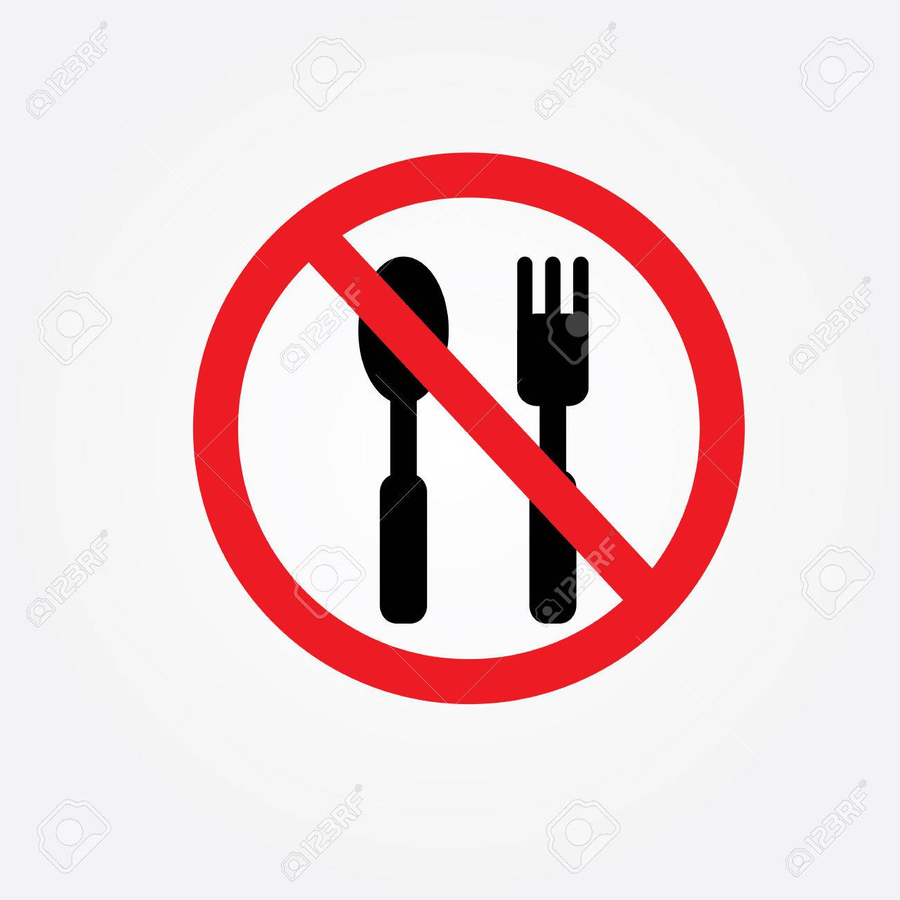 no eating vector sign no food or drink allowed vector royalty free rh 123rf com