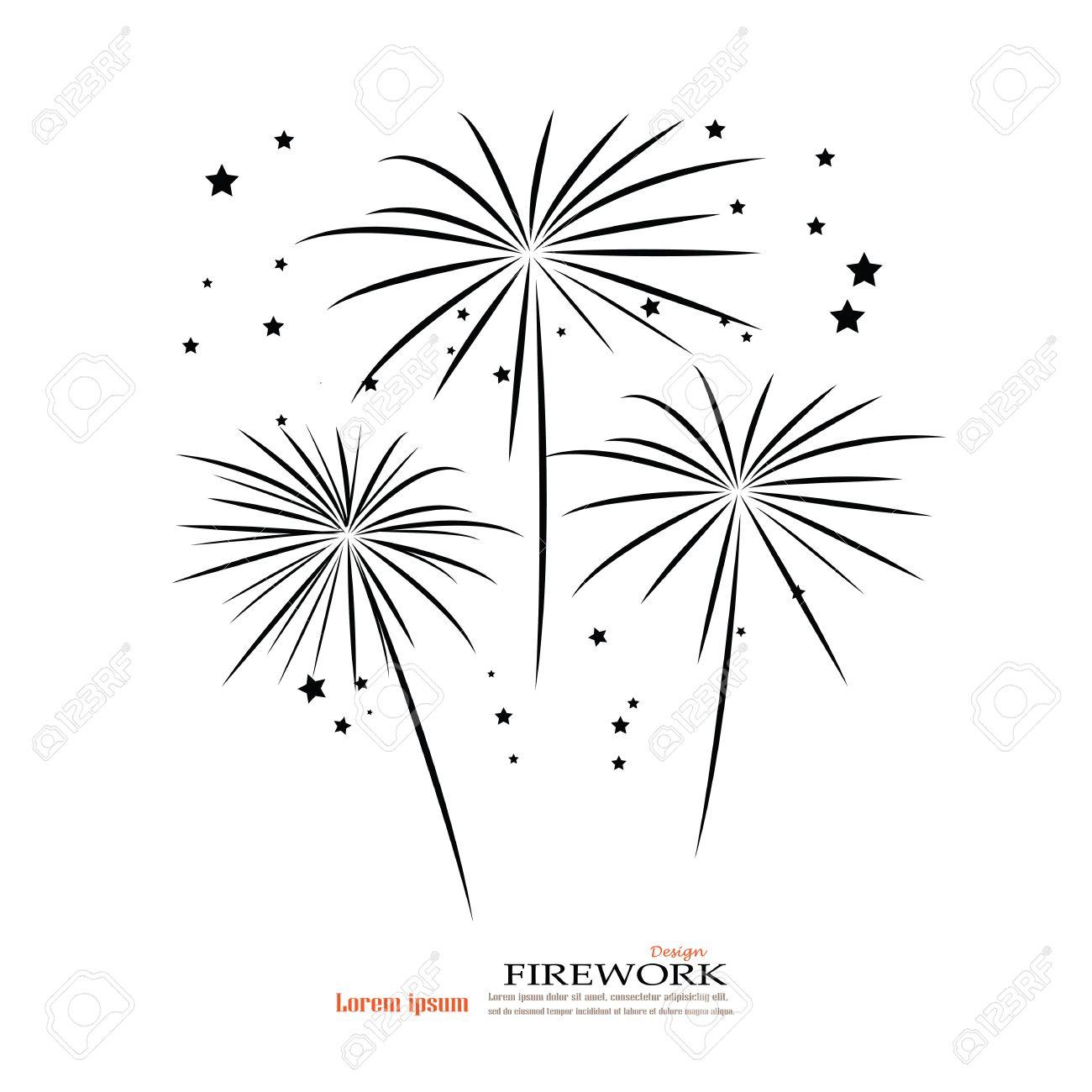 firework design on white background firework firework vector vector rh 123rf com Fireworks Transparent Background American Fireworks