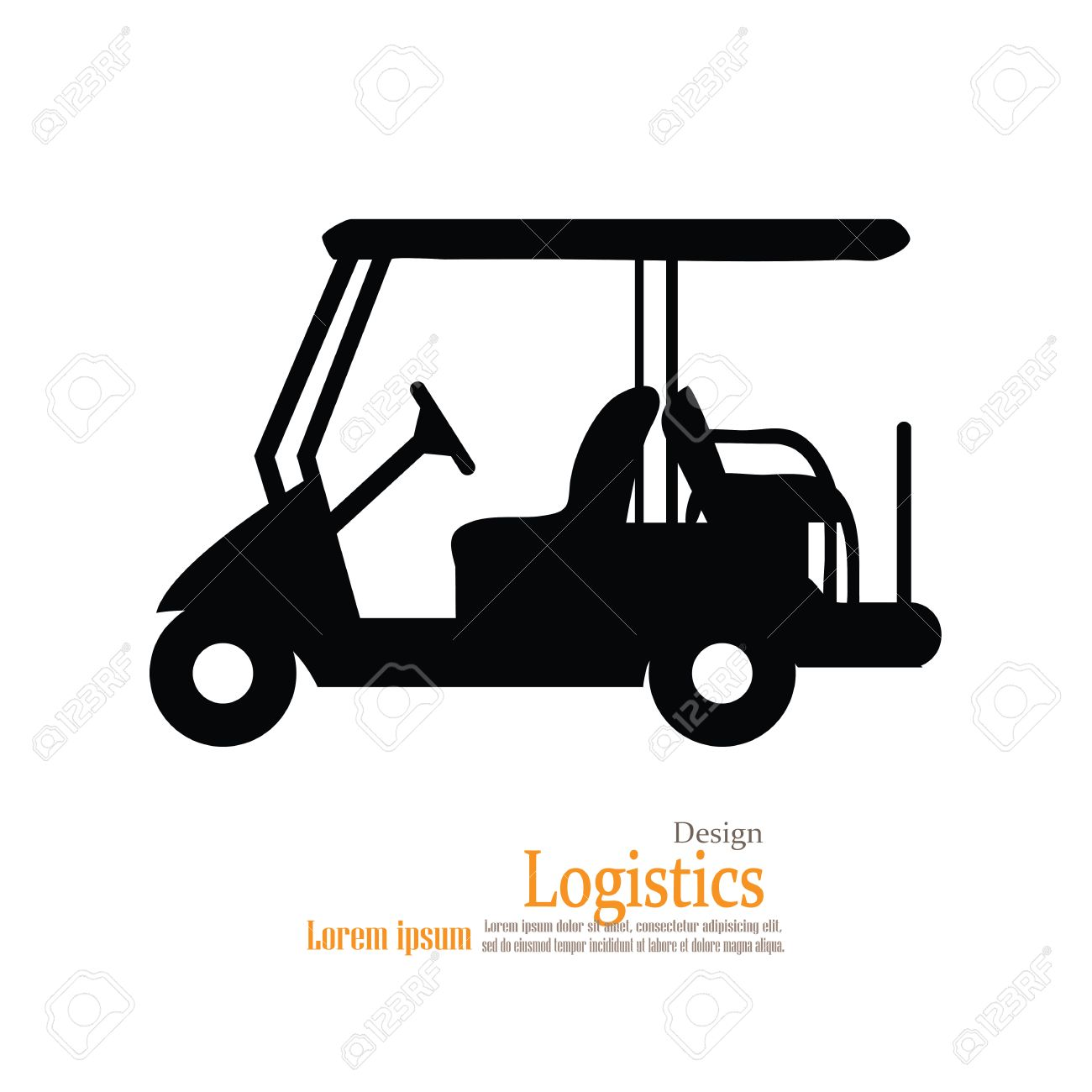 Golf Cart .golf Car.vector Illustration. Royalty Free Cliparts ... Golfers In Cart Clipart Html on url clipart, doc clipart, sql clipart,