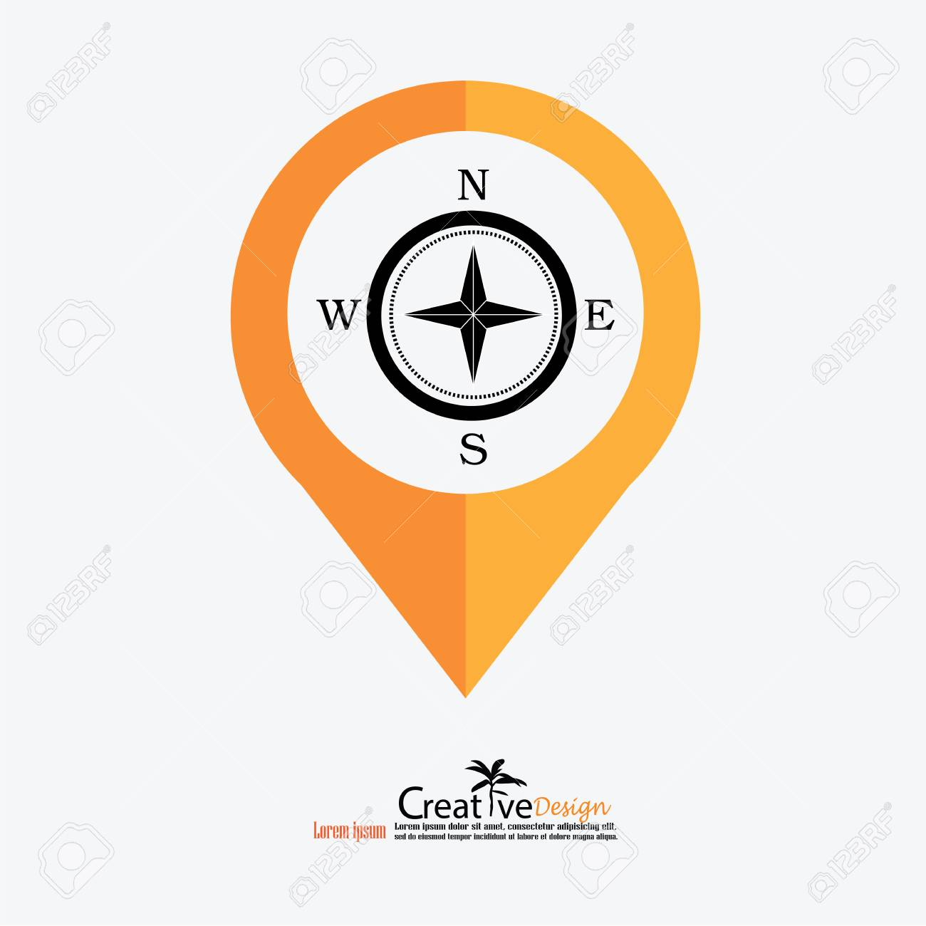 Compasses icon compass icon with map pointer vector illustration
