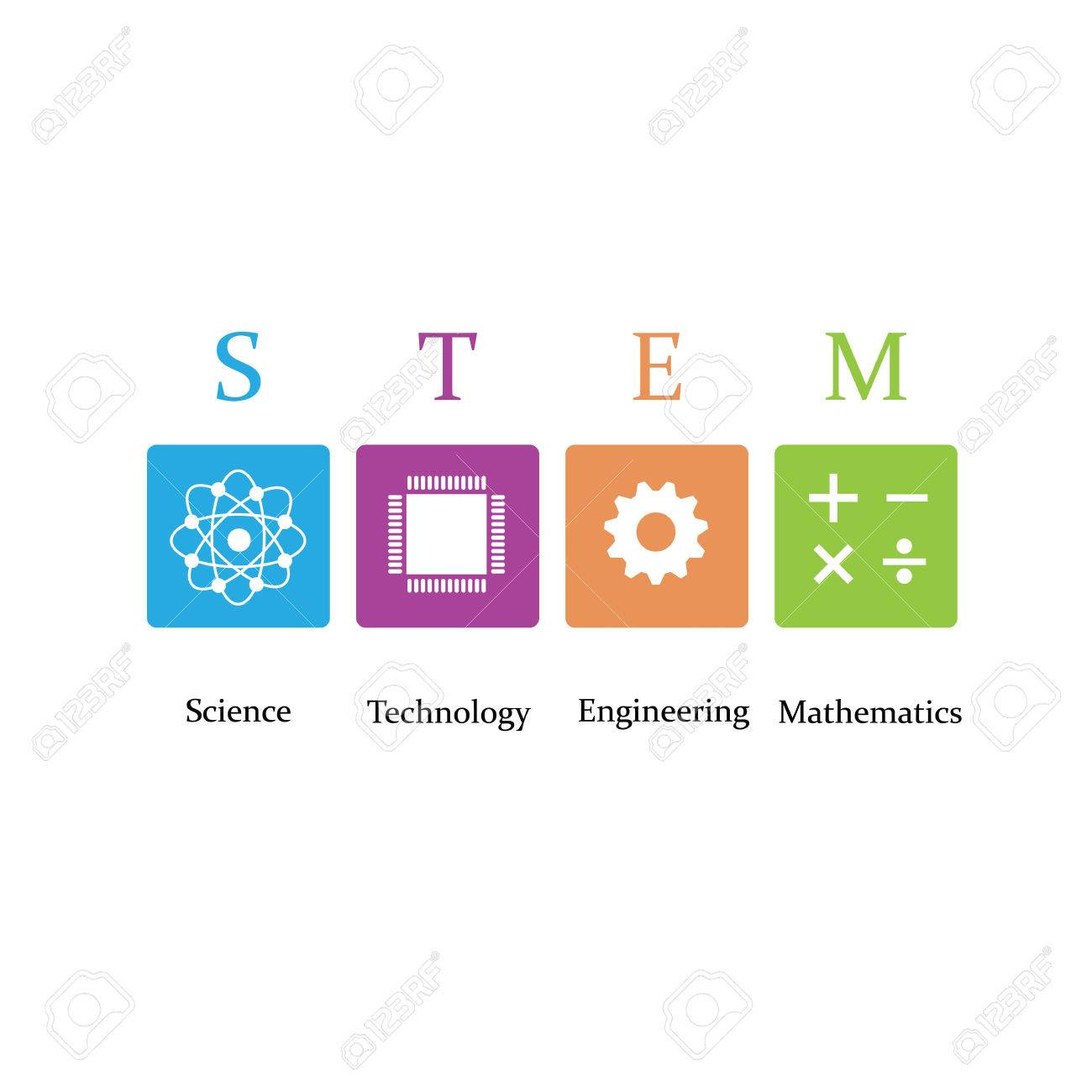 Vector illustration of Science, Technology, Engineering and Math education - 61000336