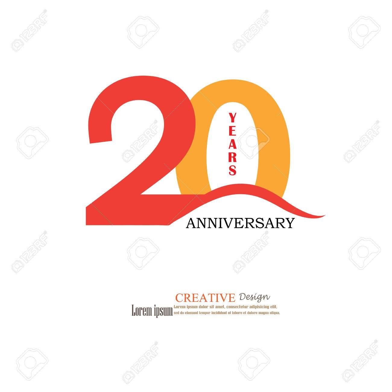 Modèle Logo 20ème Anniversaire Logo Anniversaire De 20 Ans Célébration 20 Ans 20 Anniversaire Symbolvector Illustration