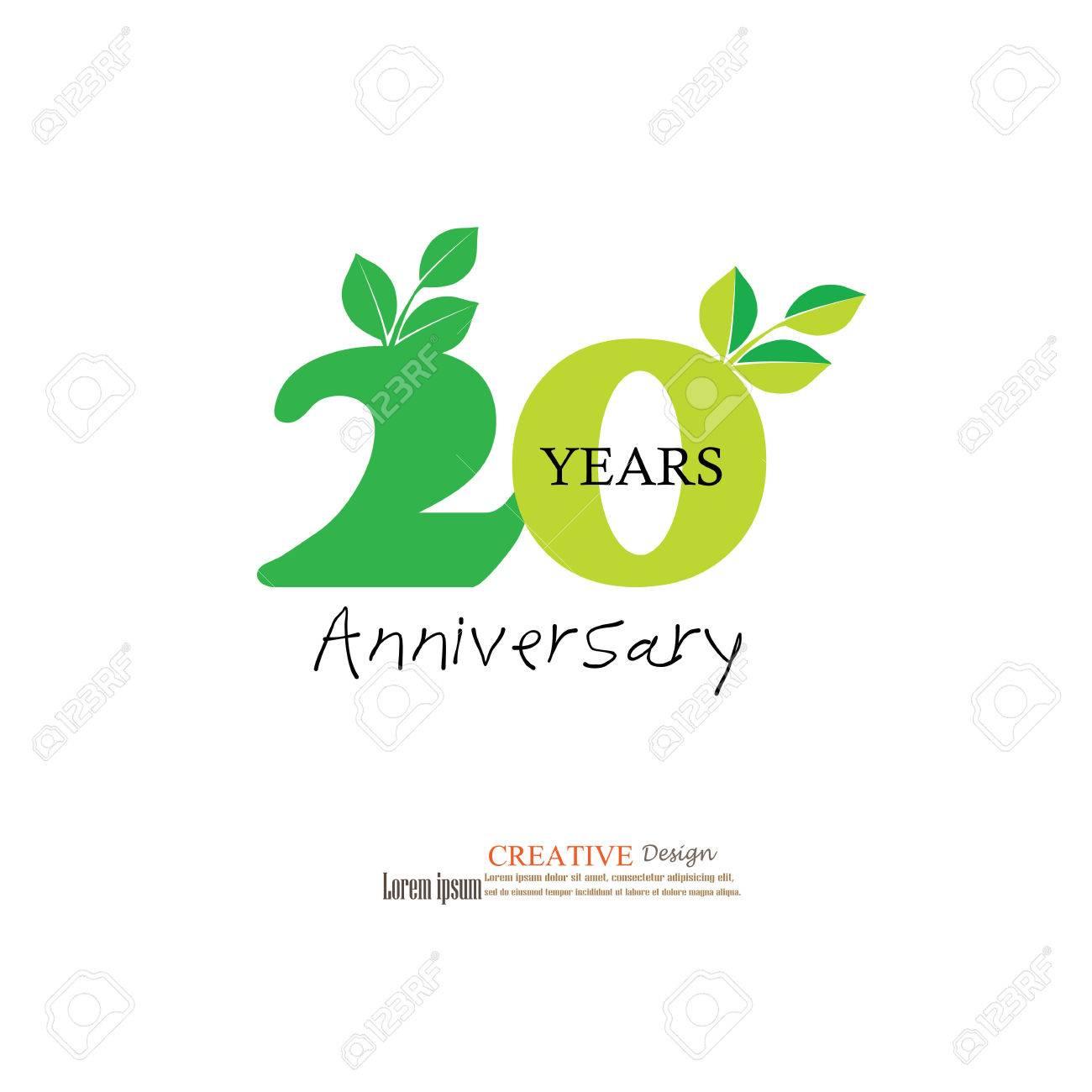 Modèle Logo 20e Anniversaire Logo Danniversaire De 20 Ans Célébration 20 Ans 20 Anniversaire Symbolvector Illustration