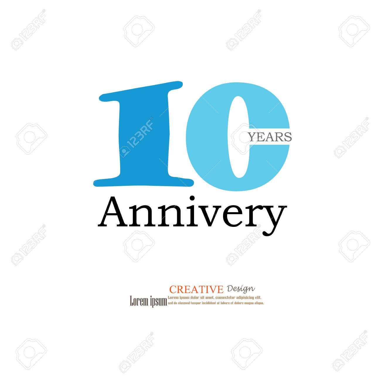 Template Logo 10th Anniversary 10 Years Anniversary Logo