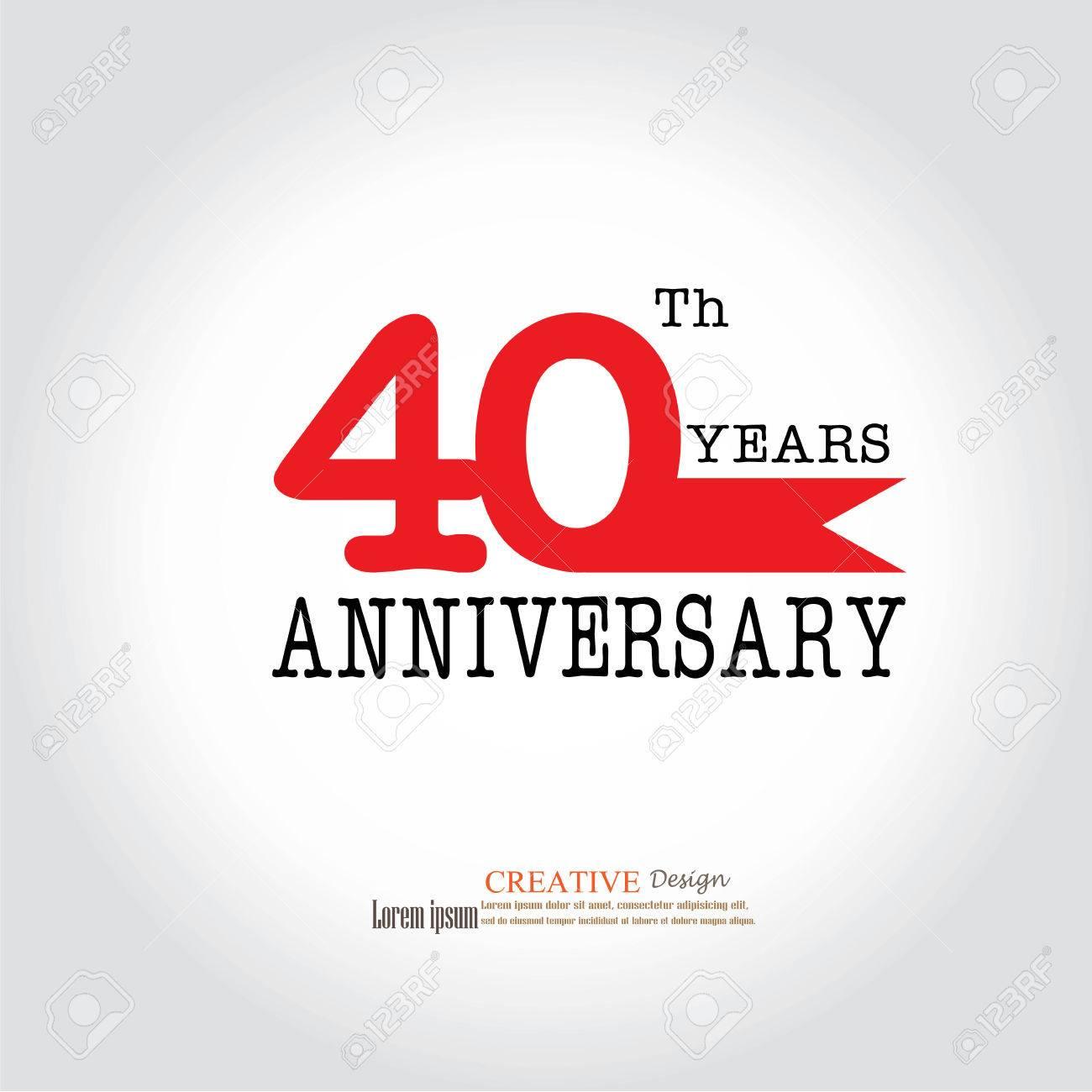 Template Logo 40th Anniversary. 40 Years Anniversary Logo