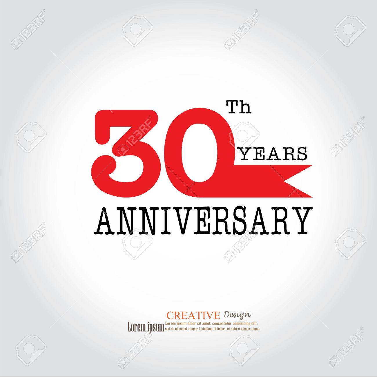 Template Logo 30th Anniversary 30 Years Anniversary Logo