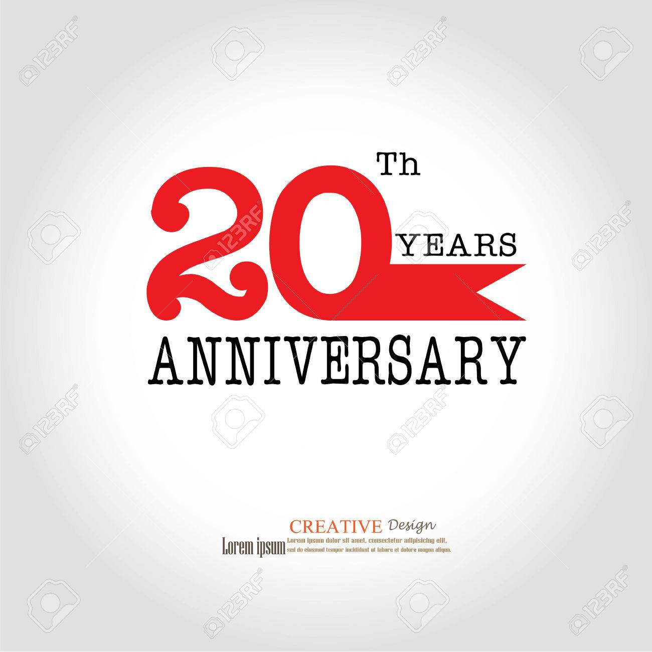 Logo Du Modèle 20ème Anniversaire Logo Anniversaire 20 Ans Célébration 20 Ans20 Anniversaire Symbolevector Illustration