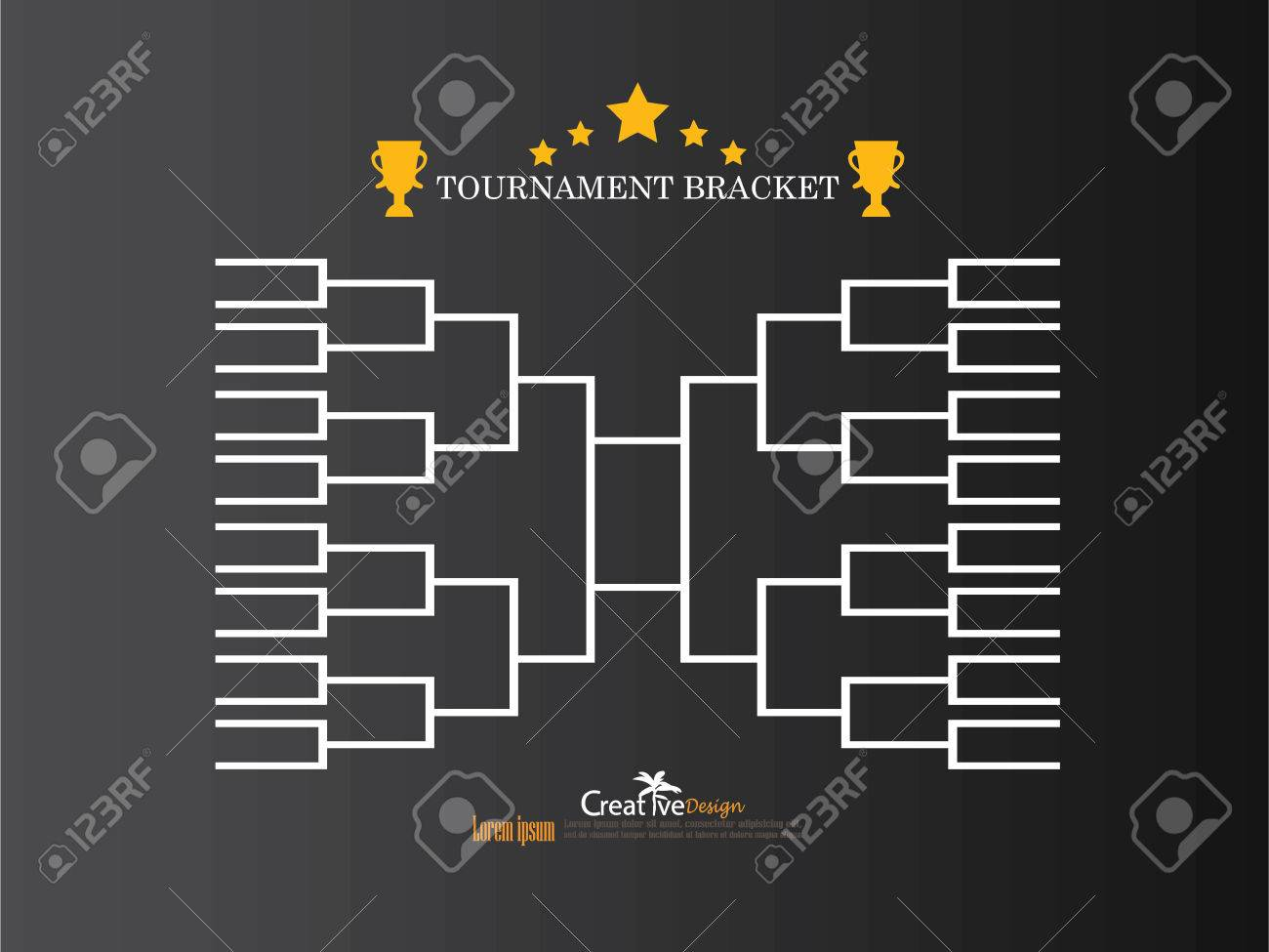 Blank basketball tournament bracket template
