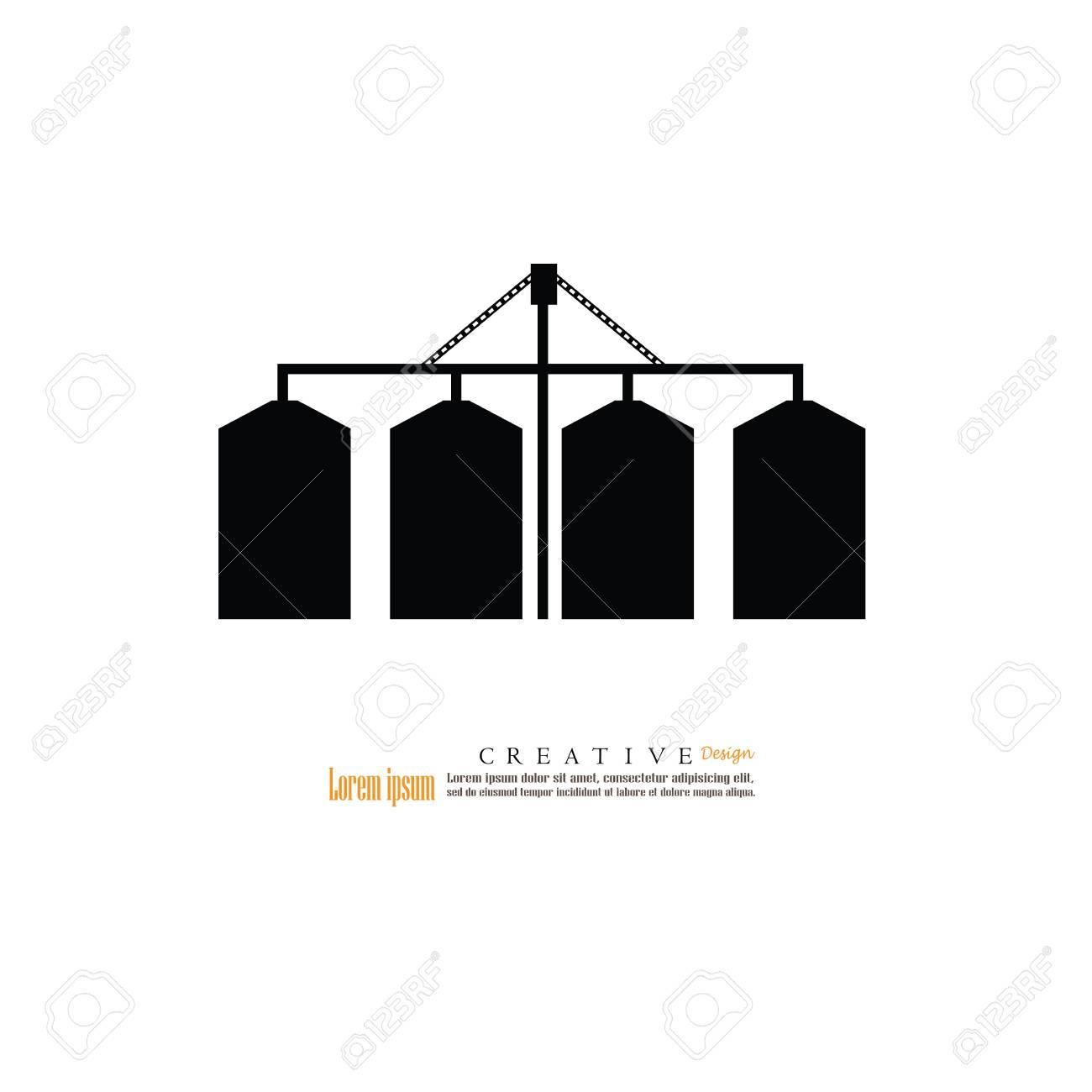 grain silo.silo.vector illustration. - 82026959
