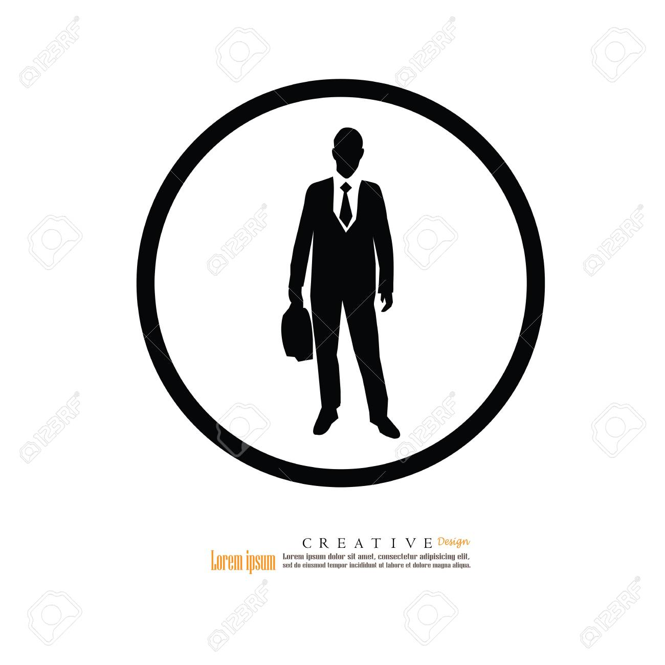 Business man icon. Business man with suit.vector illustration