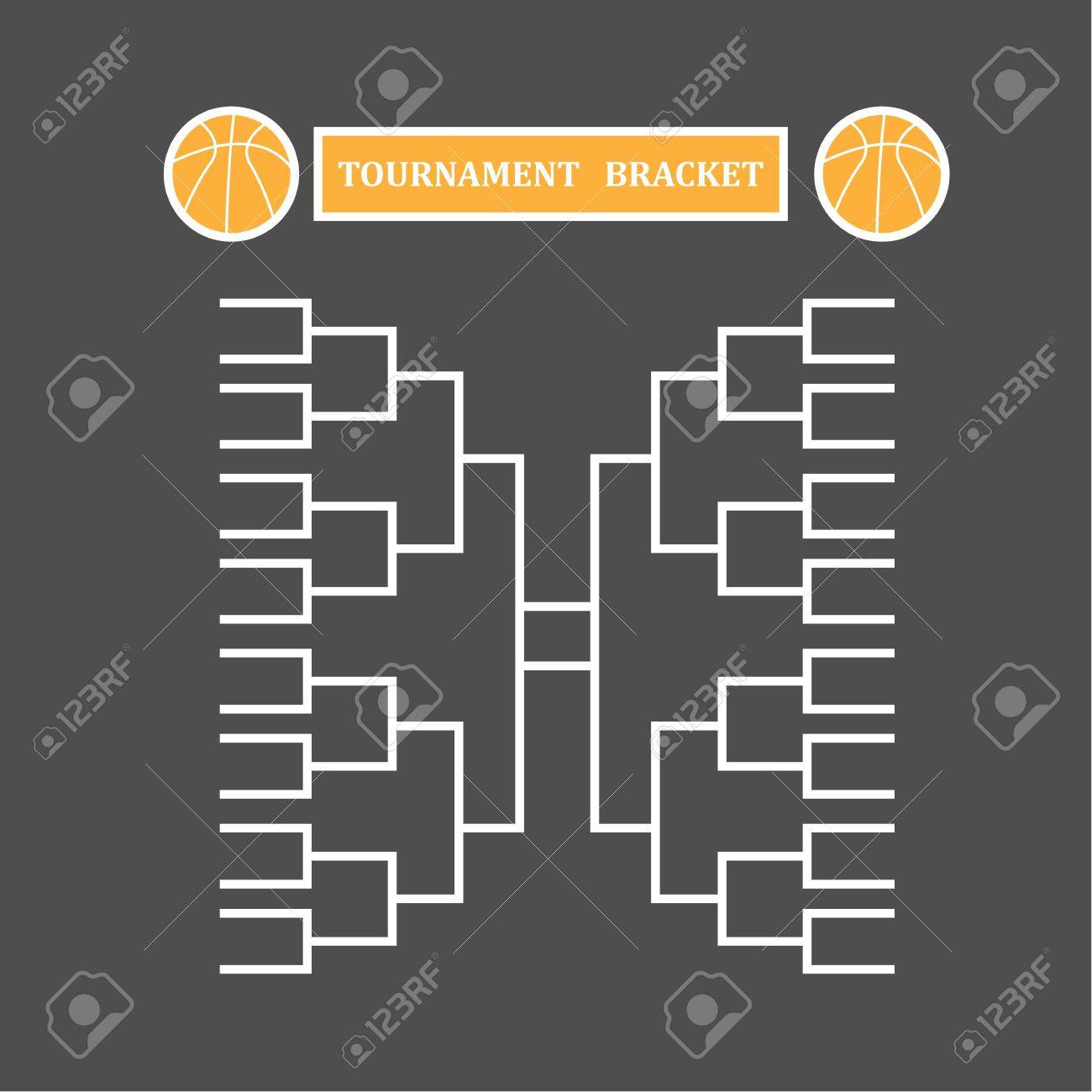 blank sport tournament bracket on background vector illustration