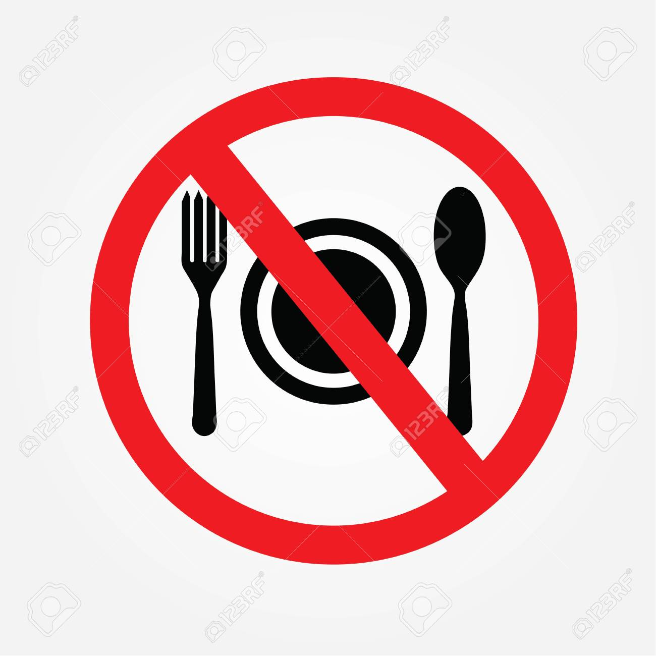 no cooking sign no food or drink allowed vector illustration rh 123rf com