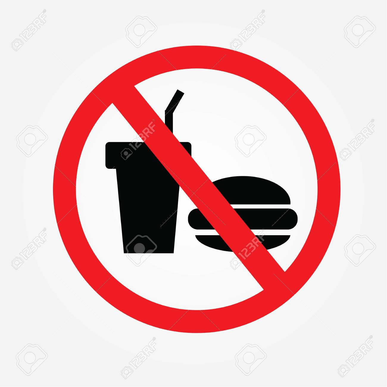 no cooking sign no food or drink allowed vector illustration rh 123rf com no food or drinks clipart no food or drink clipart