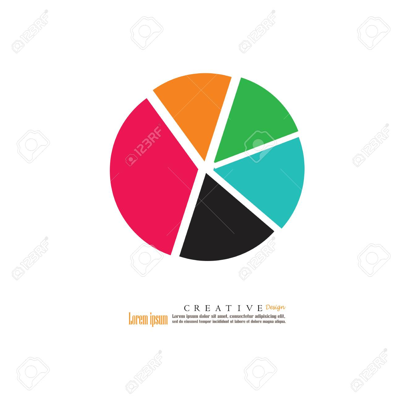 simple business flat pie chart, vector illustration. royalty free