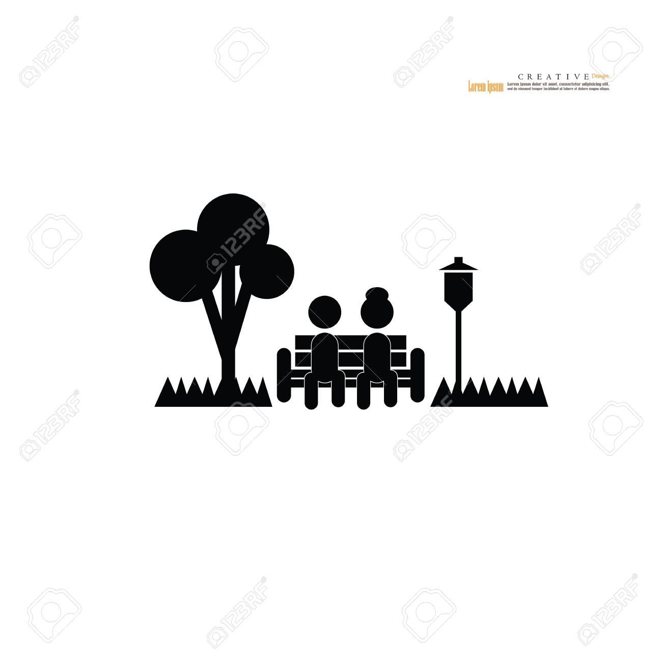 park icon.garden icon.vector illustration.