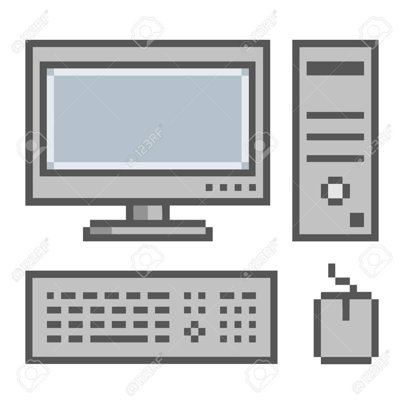pixel art ordinateur