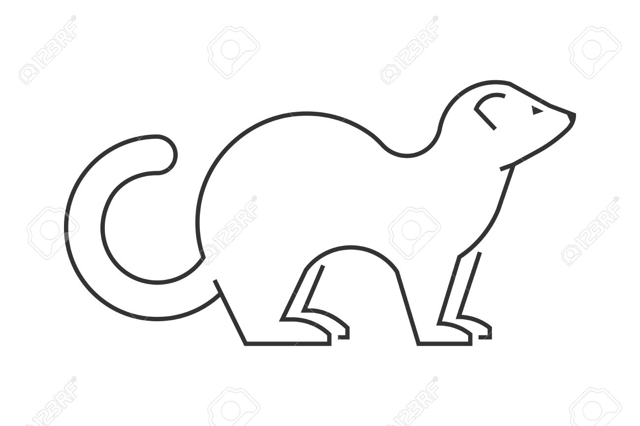 103 ferret silhouette animals stock illustrations cliparts and