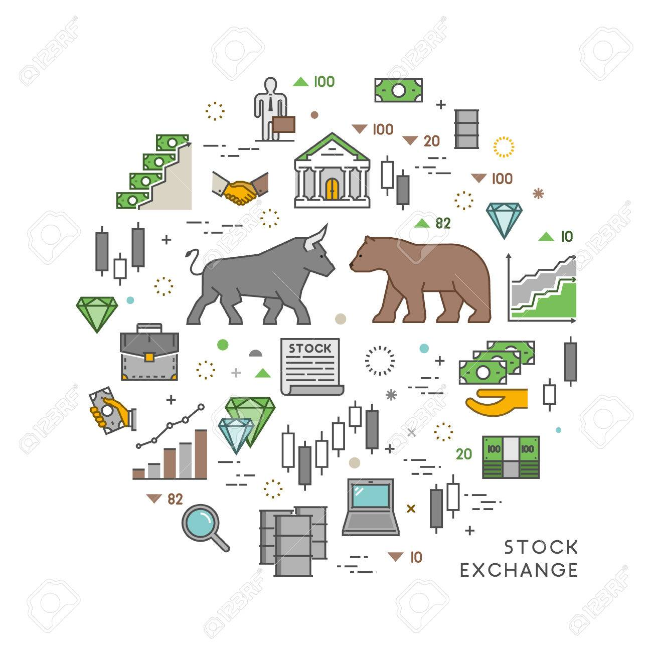 Vector Concept For Stock Exchange Vector Symbol Of Commodity