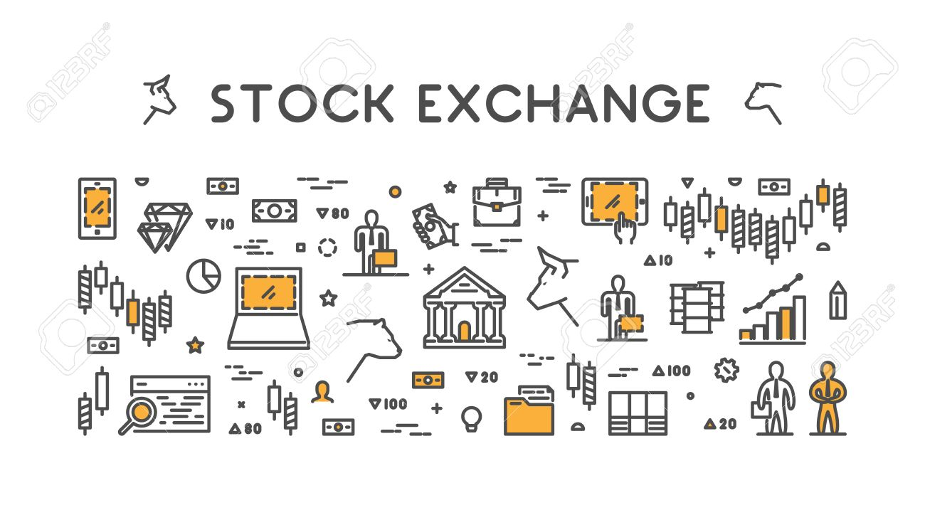 Vector symbol for stock market and stock exchange modern bull vector symbol for stock market and stock exchange modern bull and bear icon for wall biocorpaavc Image collections