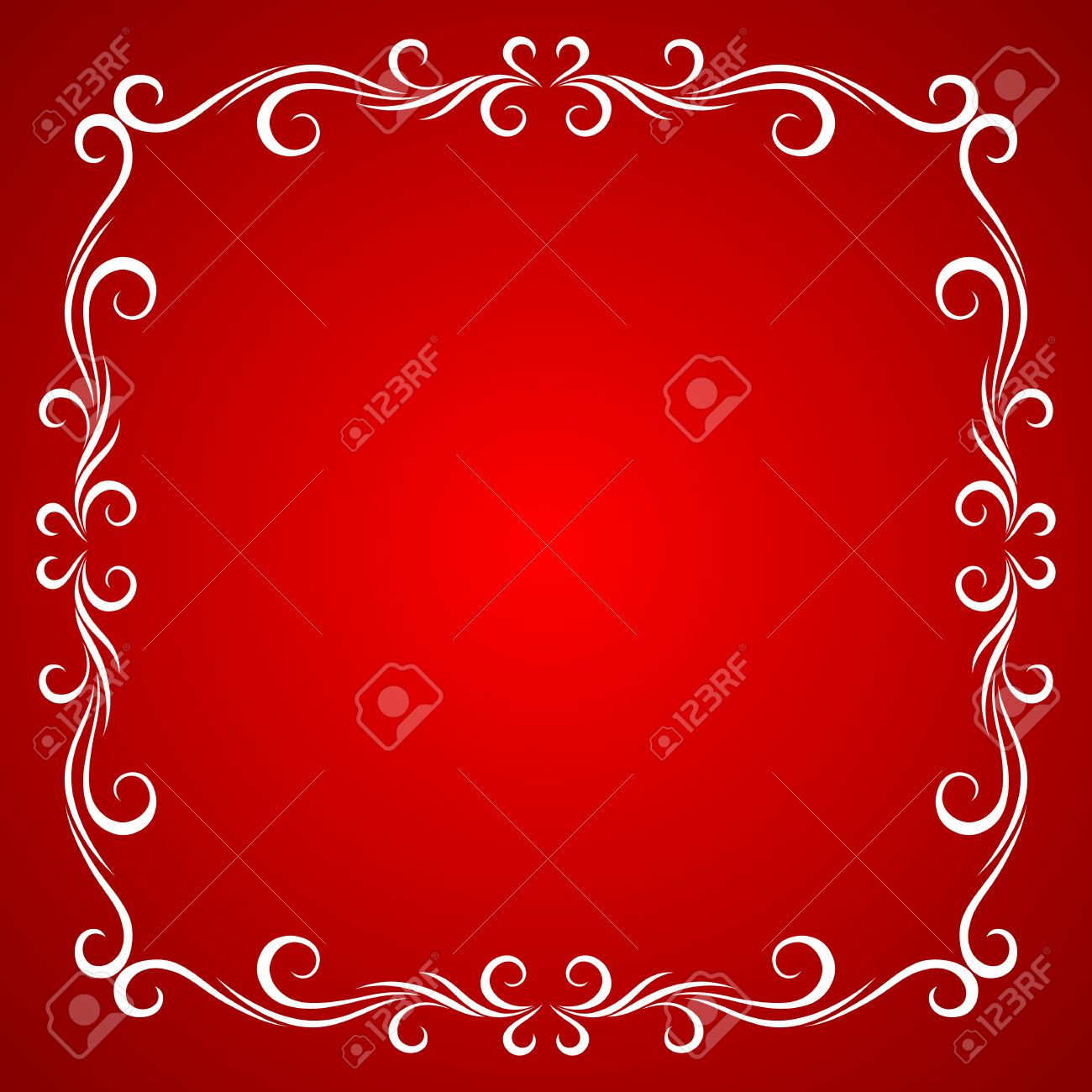 Vintage Frame Design For Greeting Card. Royalty Free Cliparts ...