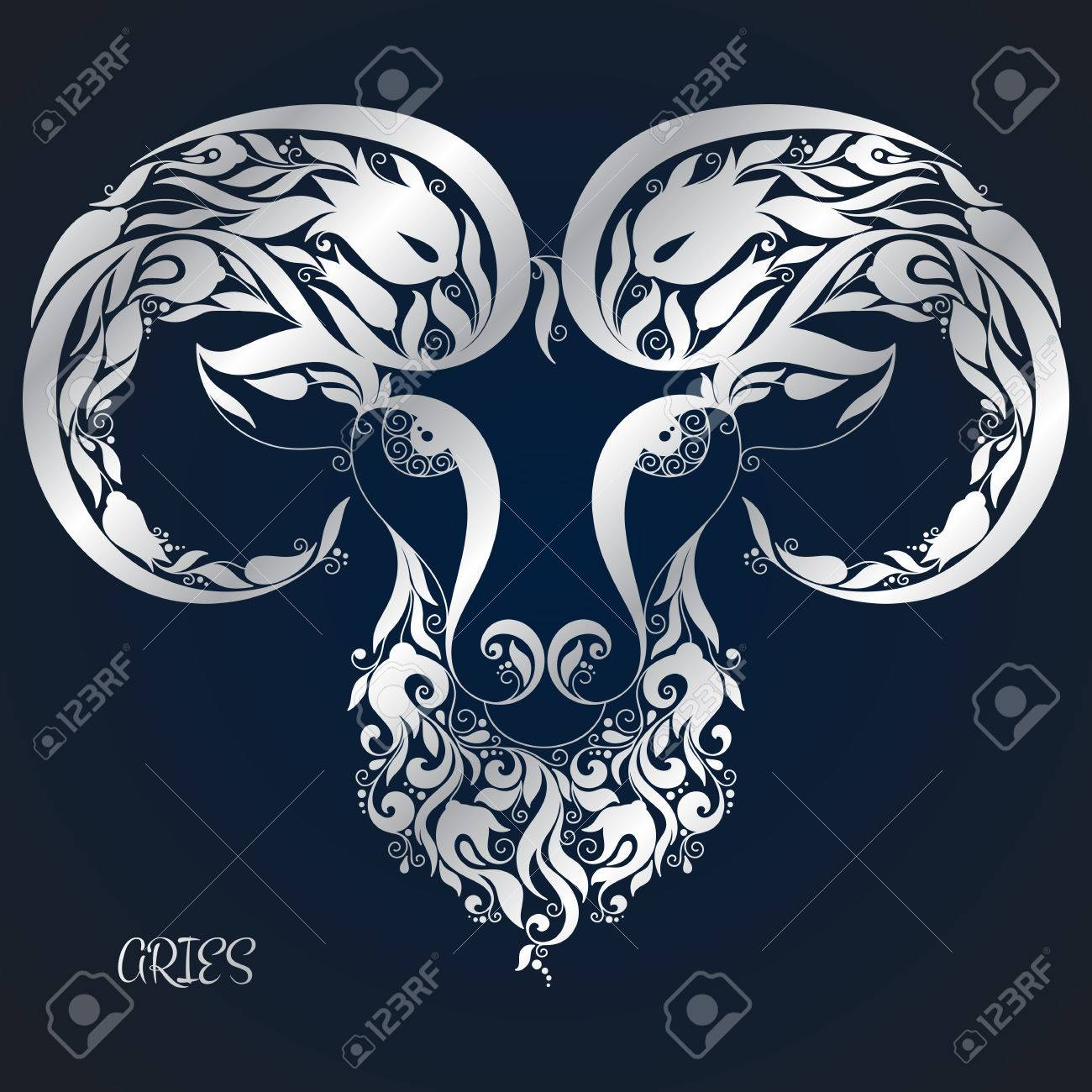 Aries. Astrology Zodiac sign. Vector zodiac. Hand drawn style. - 51119729