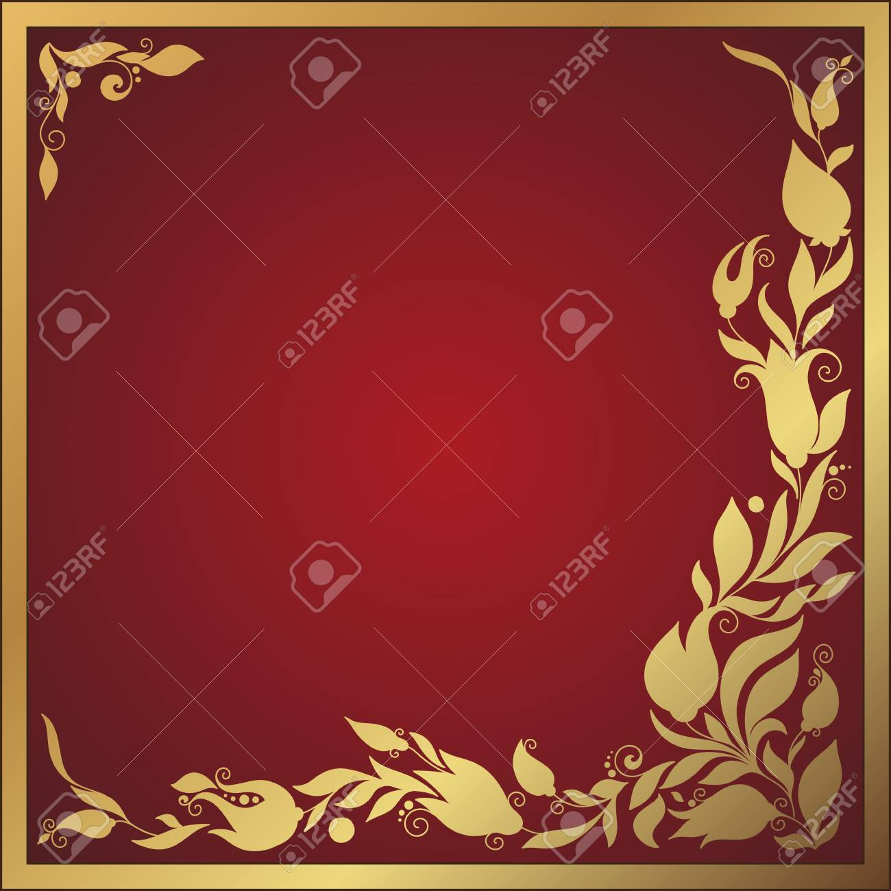 Greeting Frame Elements For Design. Vector Illustration. Bright ...