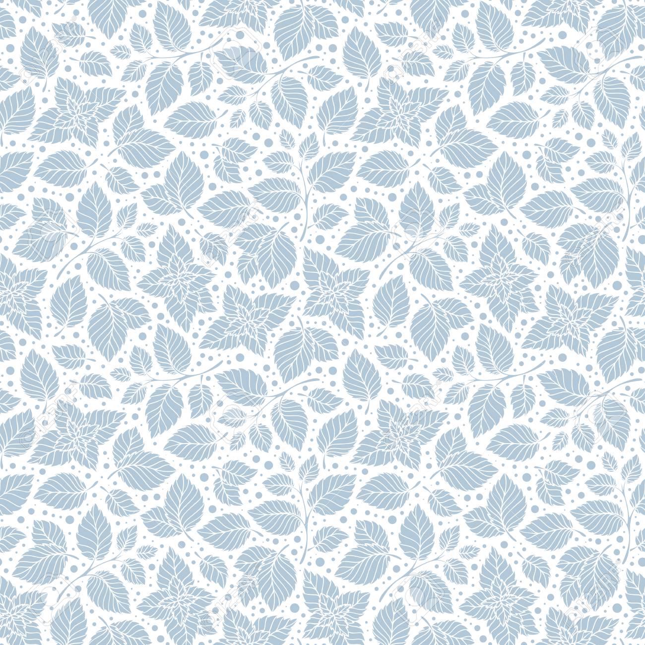ミントの葉のパターン ペパーミントの葉は お茶の包装紙のベクトルの