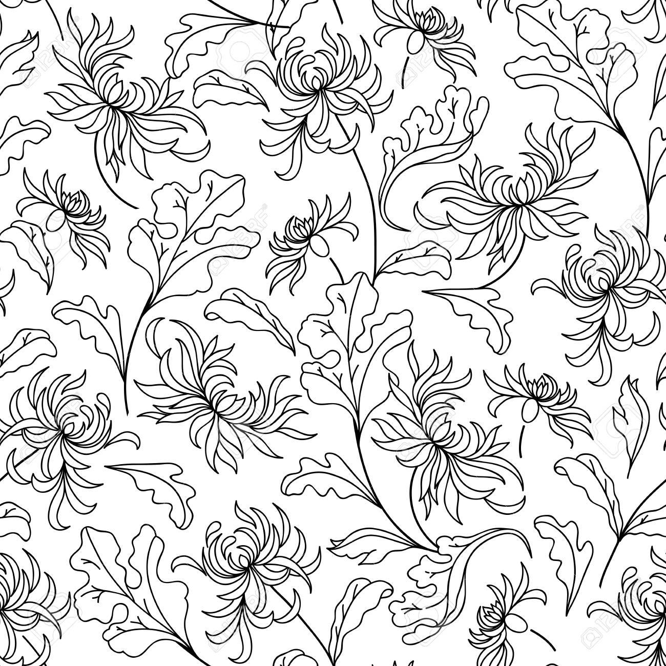 Patrón Con Flores De Lirio Página De Libro Para Colorear Para