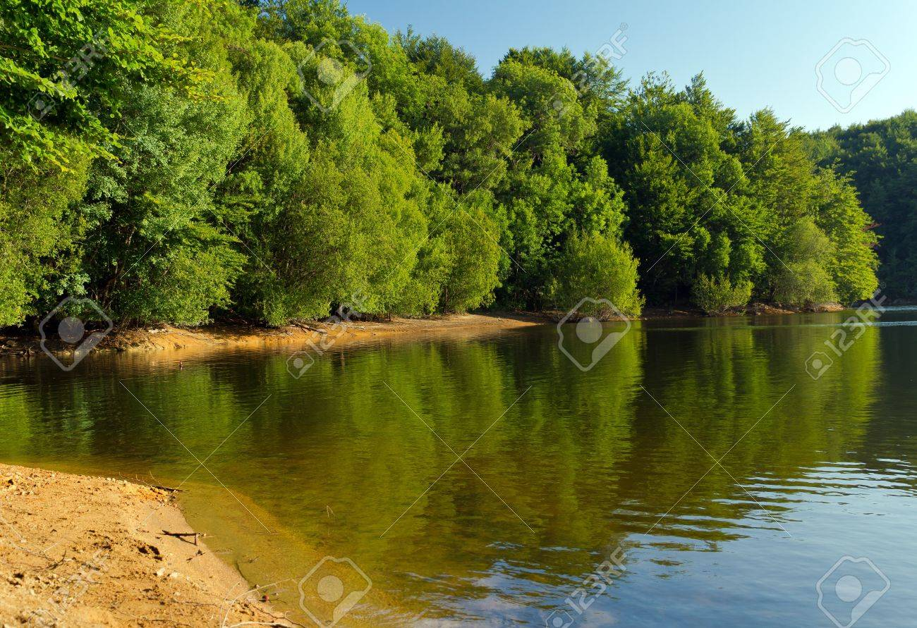 Lake Santa Fe, Montseny. Spain. Located in a beautiful setting of Barcelona. Stock Photo - 11739931