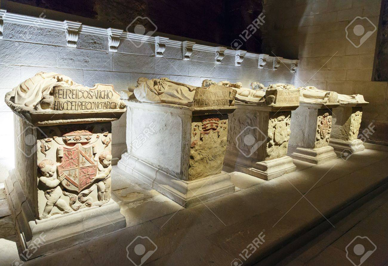 Royal Tombs In Santa Maria La Real Monastery Najera La Rioja