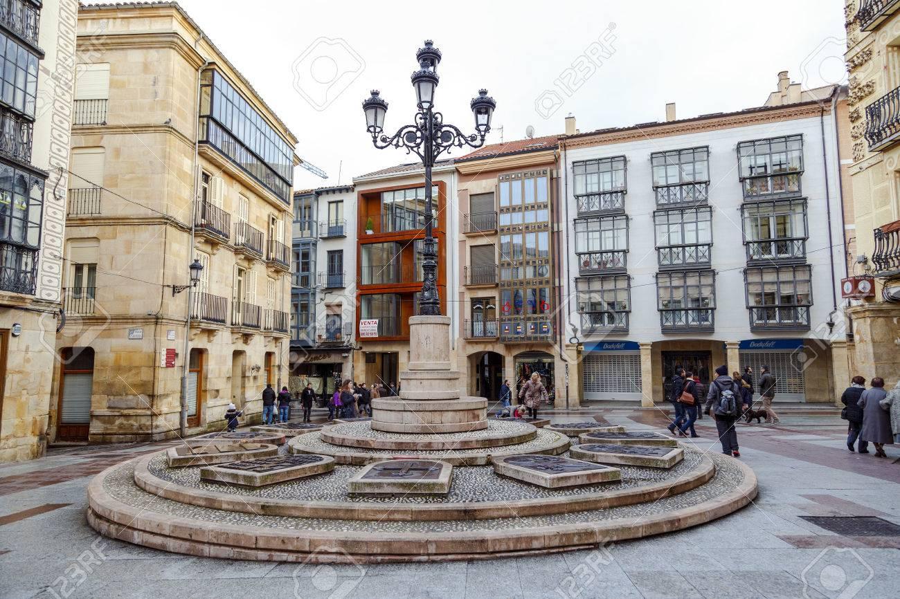 Soria, Espaa - 25 Marzo 2016: Plaza De Rosel Y San Blas. Soria ...