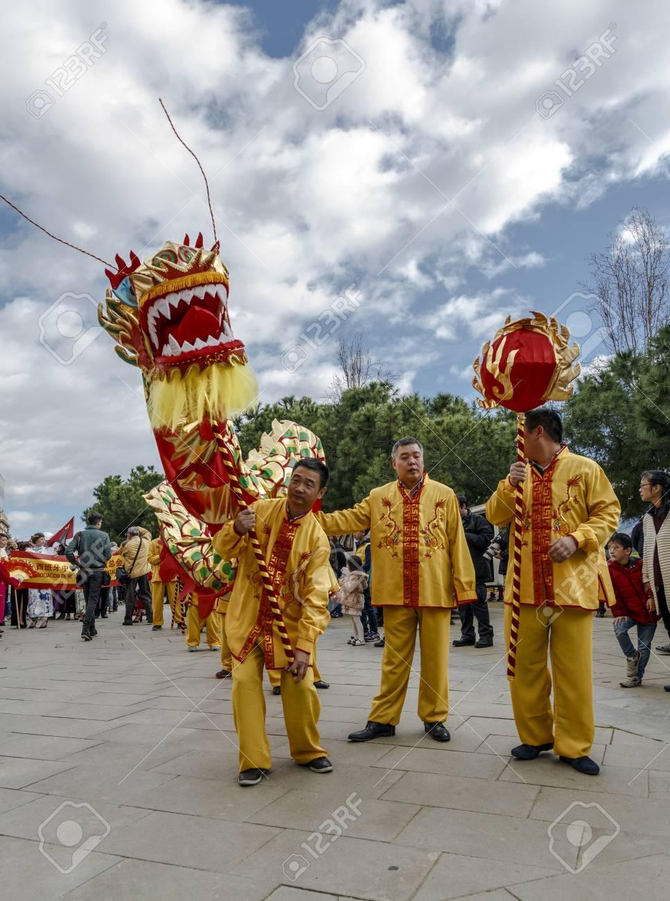 Barcelona, ??Spanien - 4. Februar 2017: Chinesische Kultur Kommen ...