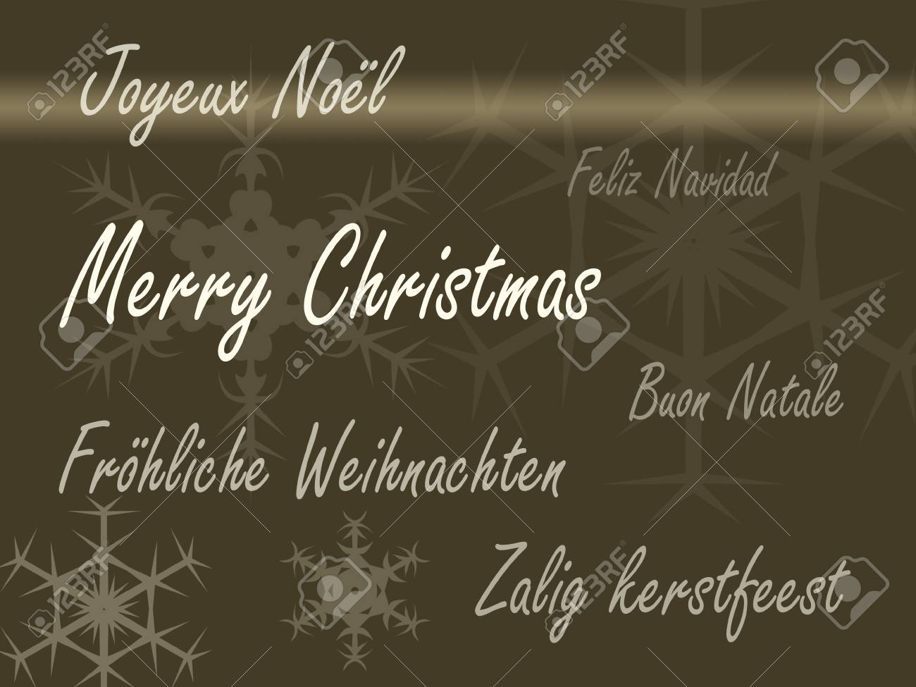 Merry Christmas card in different languages Stock Photo - 8473712