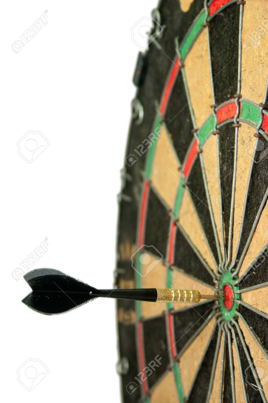 Concept of having business success by throwing darts Stock Photo - 9979354