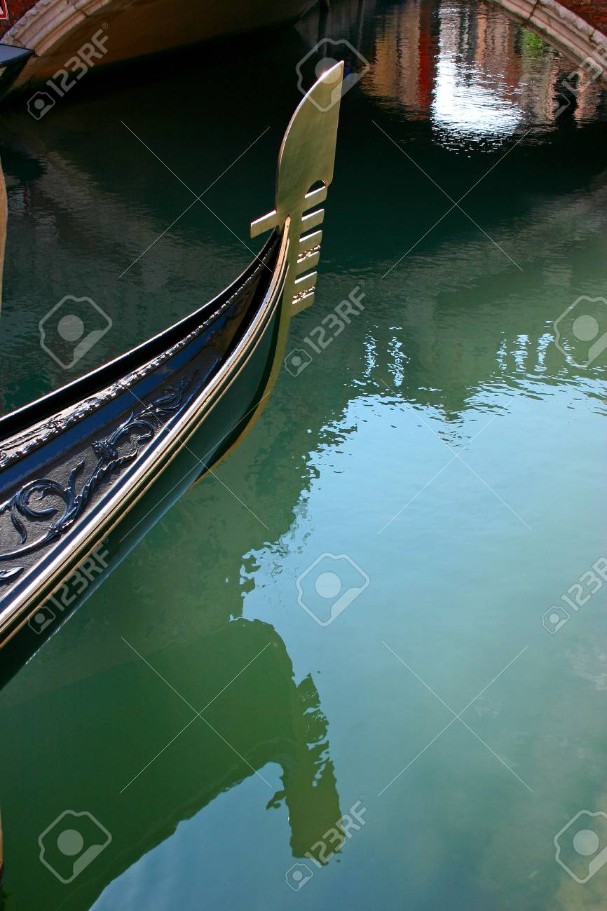 Gondola in the small canals of the romantic Venice Stock Photo - 11966994