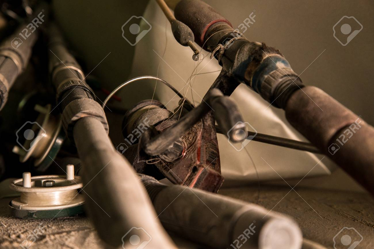 Old Fishing Rods Stock Photo, Picture And Royalty Free Image ...