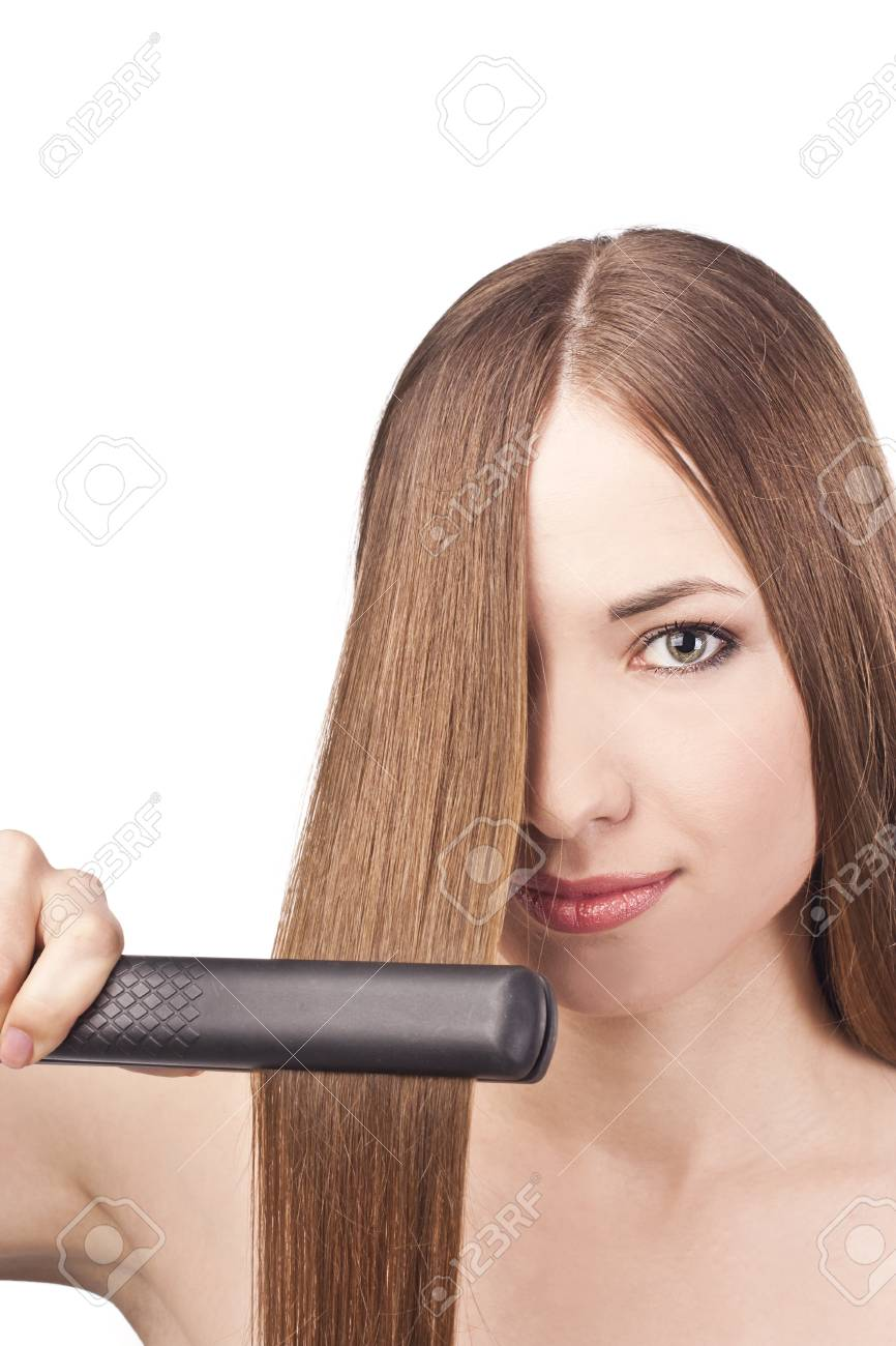 Beautiful young woman with long hair Stock Photo - 15489061