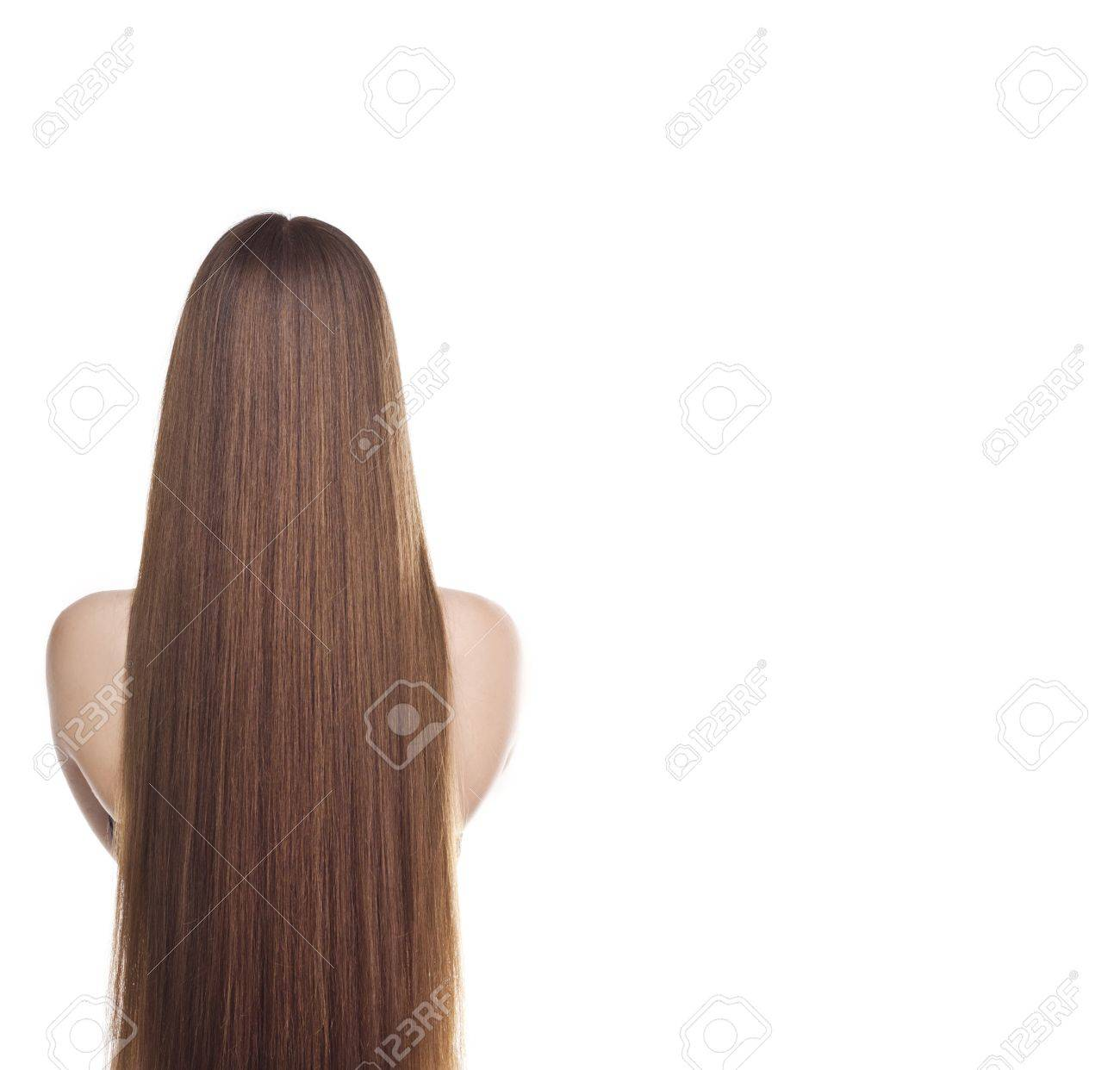 Hair long back straight exclusive photo