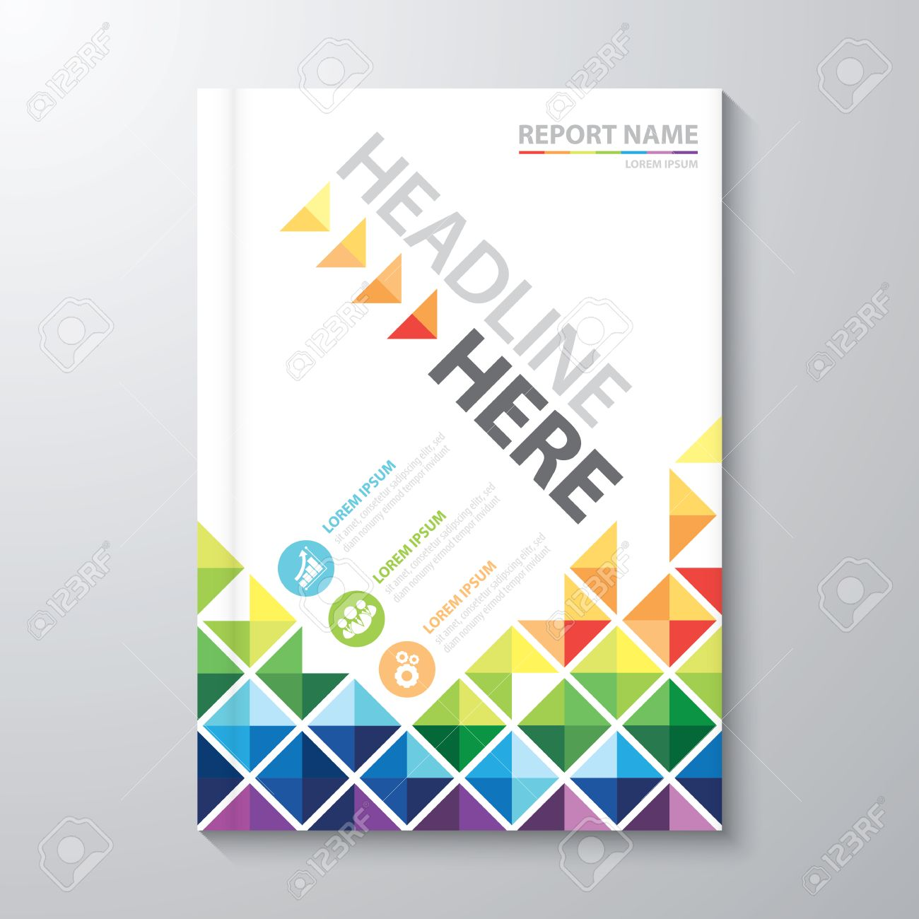 abstract colorful low polygon background cover design template abstract colorful low polygon background cover design template layout in a4 size for annual report