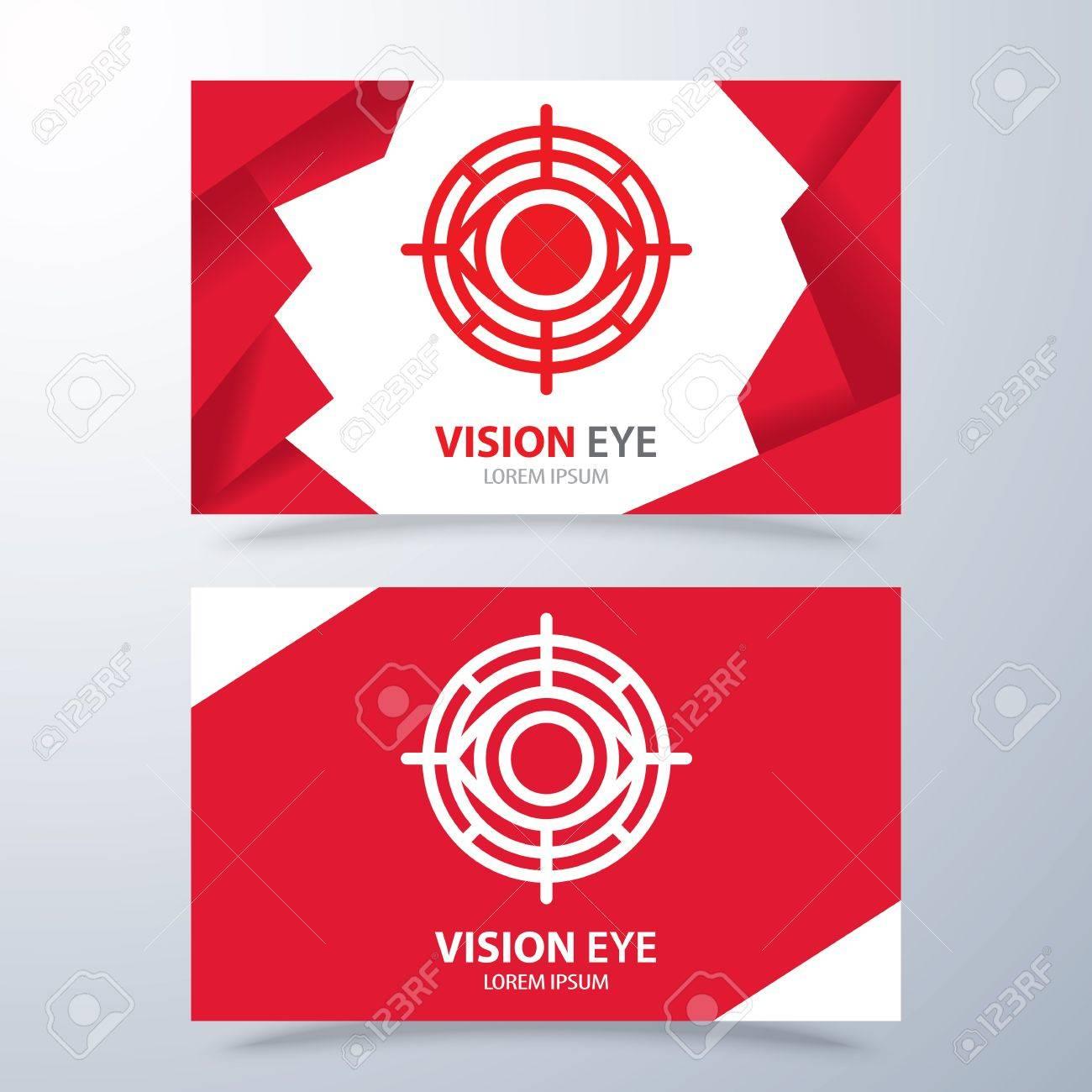 Visión Ojo Símbolo Icono Del Diseño. Logotipo Con Plantilla De ...