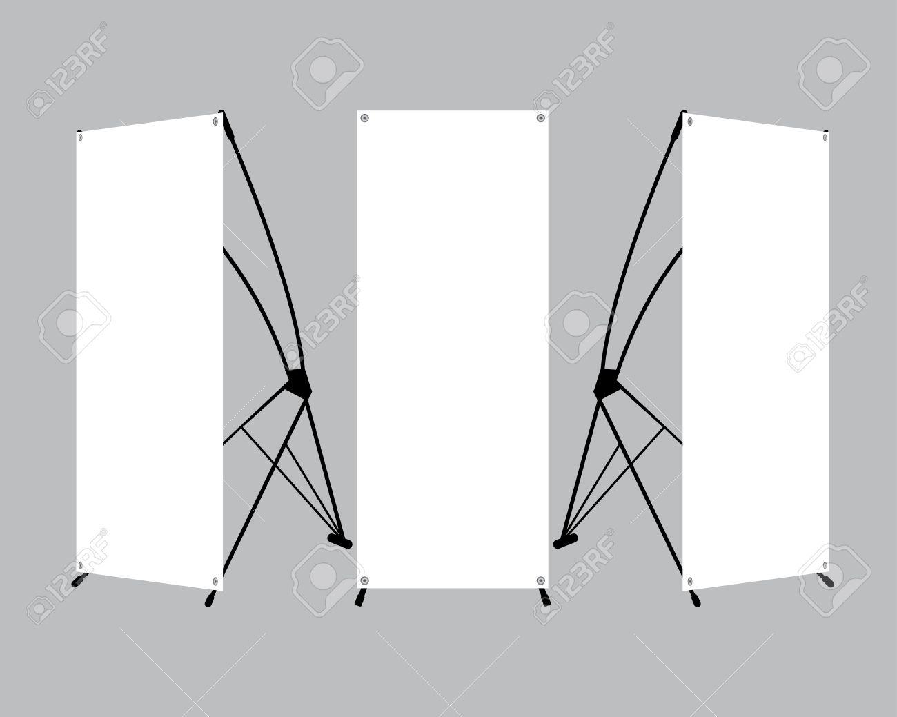 Conjunto De X-soporte Plantilla De Visualización Pancartas En Blanco ...