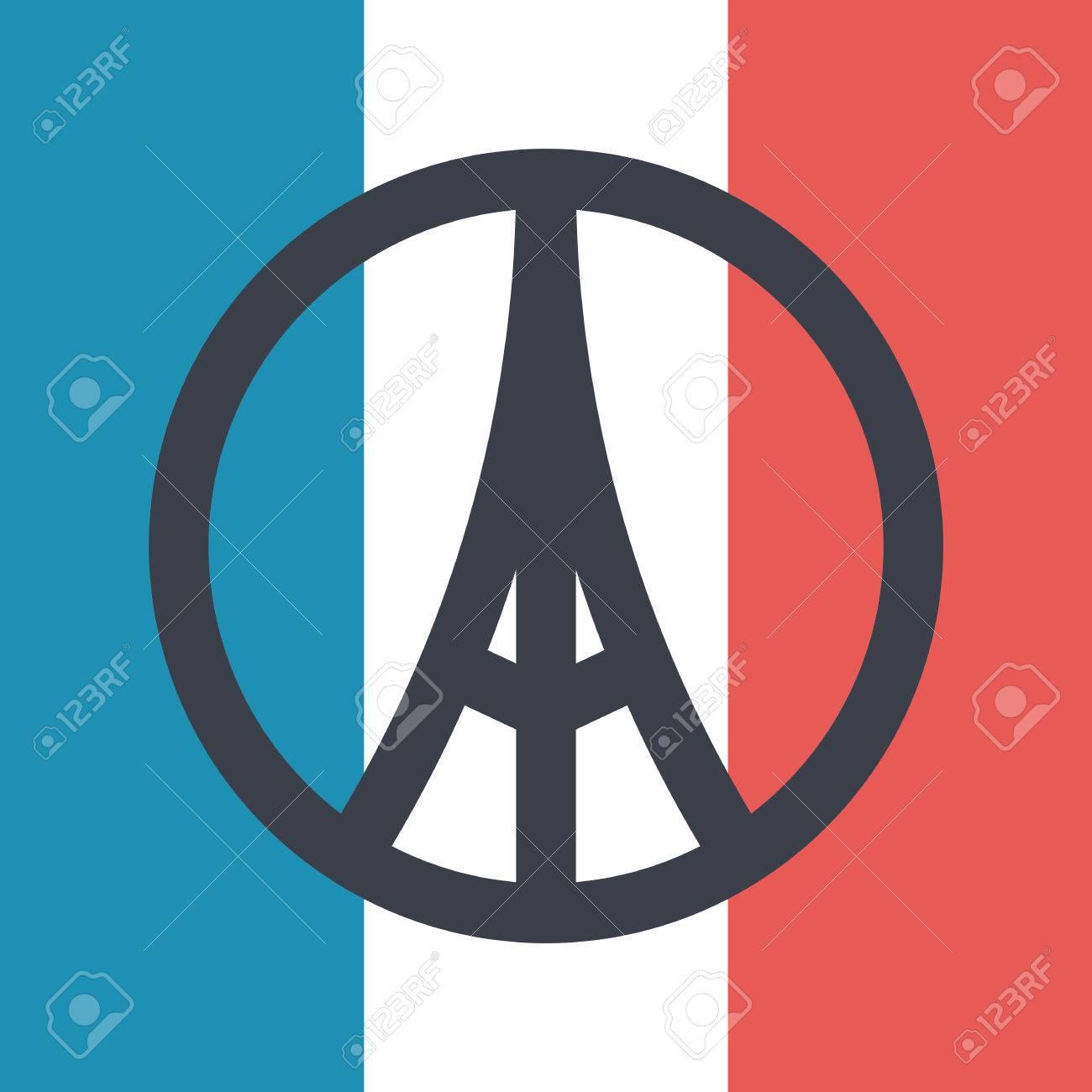 Pray for paris symbol on france flag background peace for paris pray for paris symbol on france flag background peace for paris concept vector illustration biocorpaavc