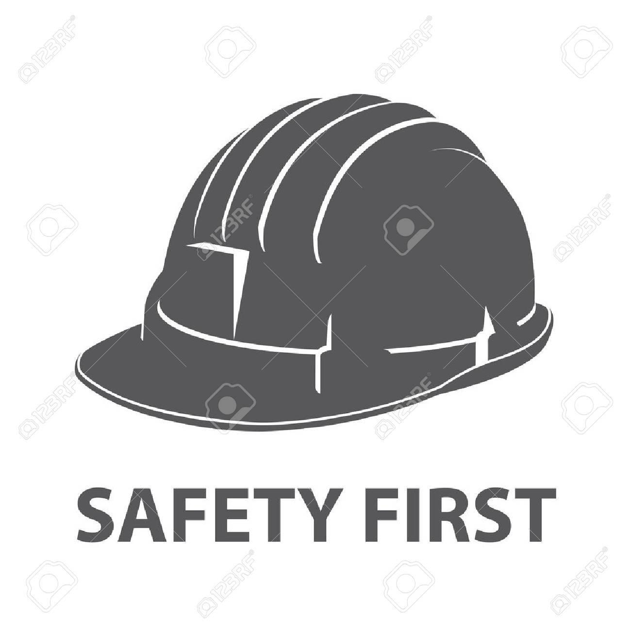 Safety hard hat icon symbol isolated on white background. Vector illustration - 50510616