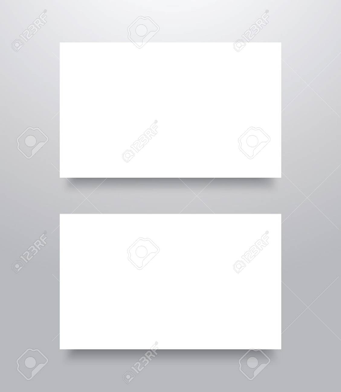 Blank business card mockup template with shadow illustration blank business card mockup template with shadow illustration stock vector 56475046 accmission Images