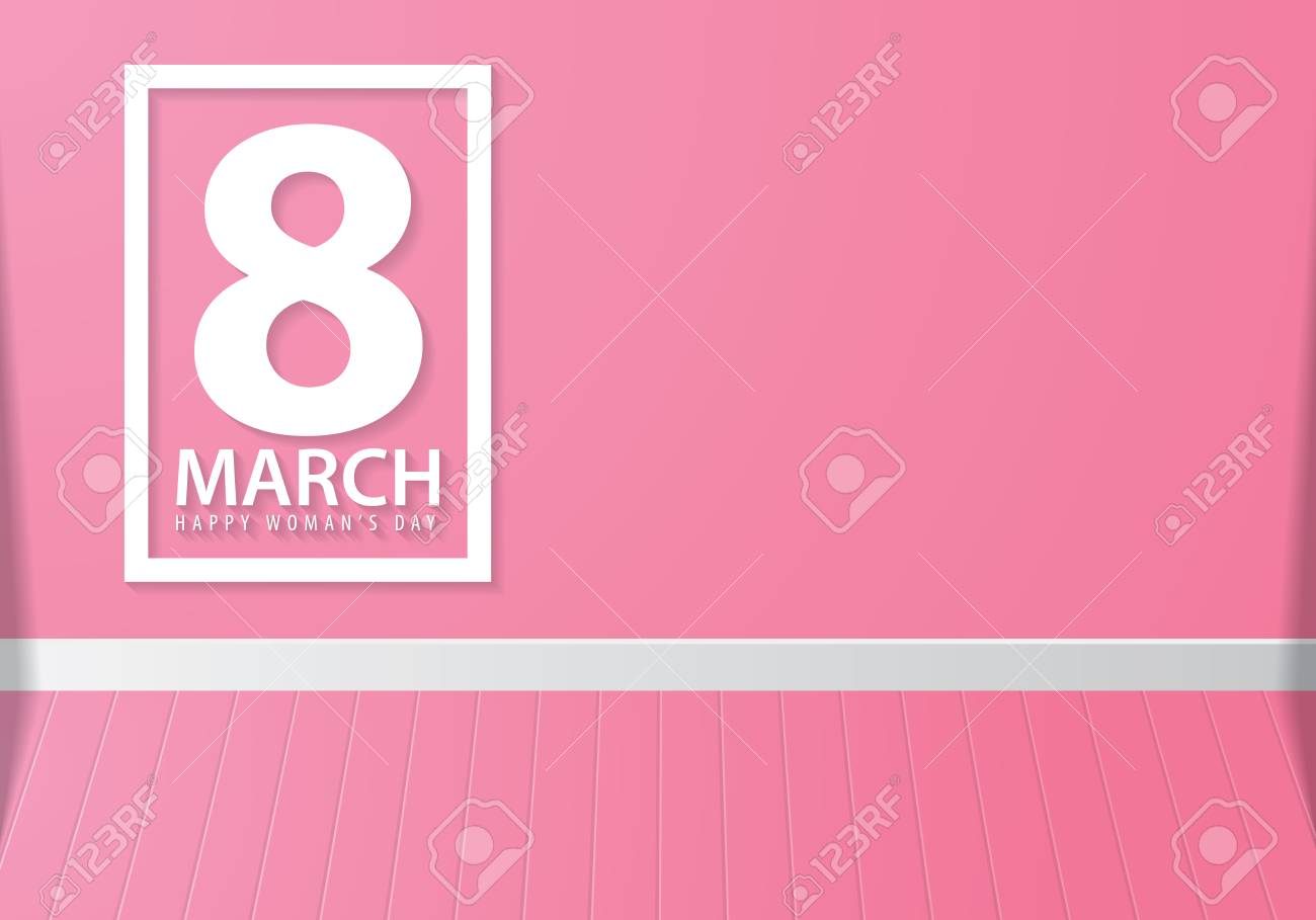 8 March International Happy Women\'s Day With Square Frame Symbol ...