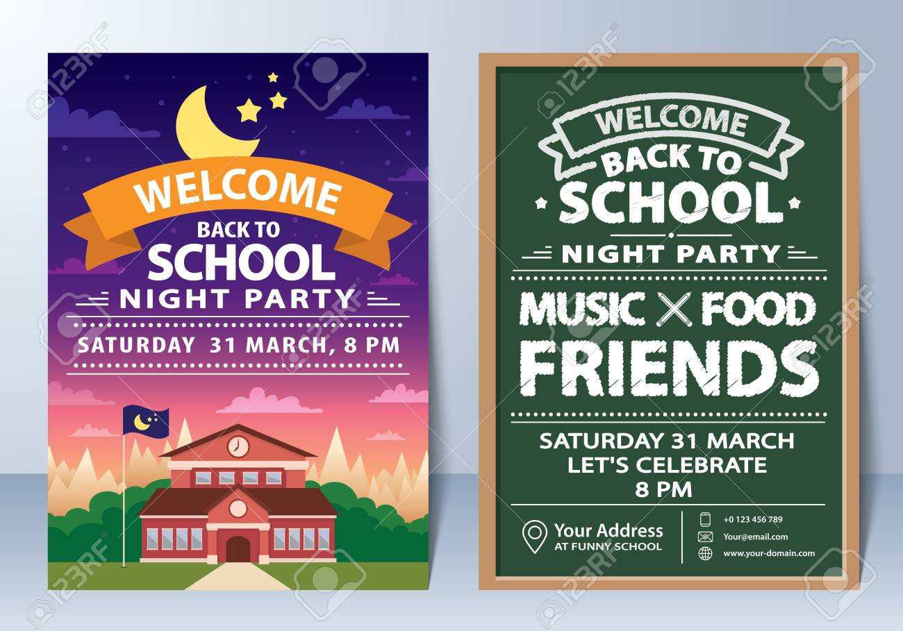 Back to school party invitations & back to school cards   purpletrail.