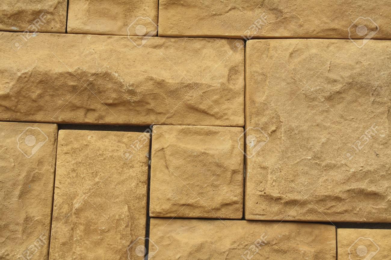 Grunge Brown Stone Wall Tiles Texture Wall Natural Brown Orange