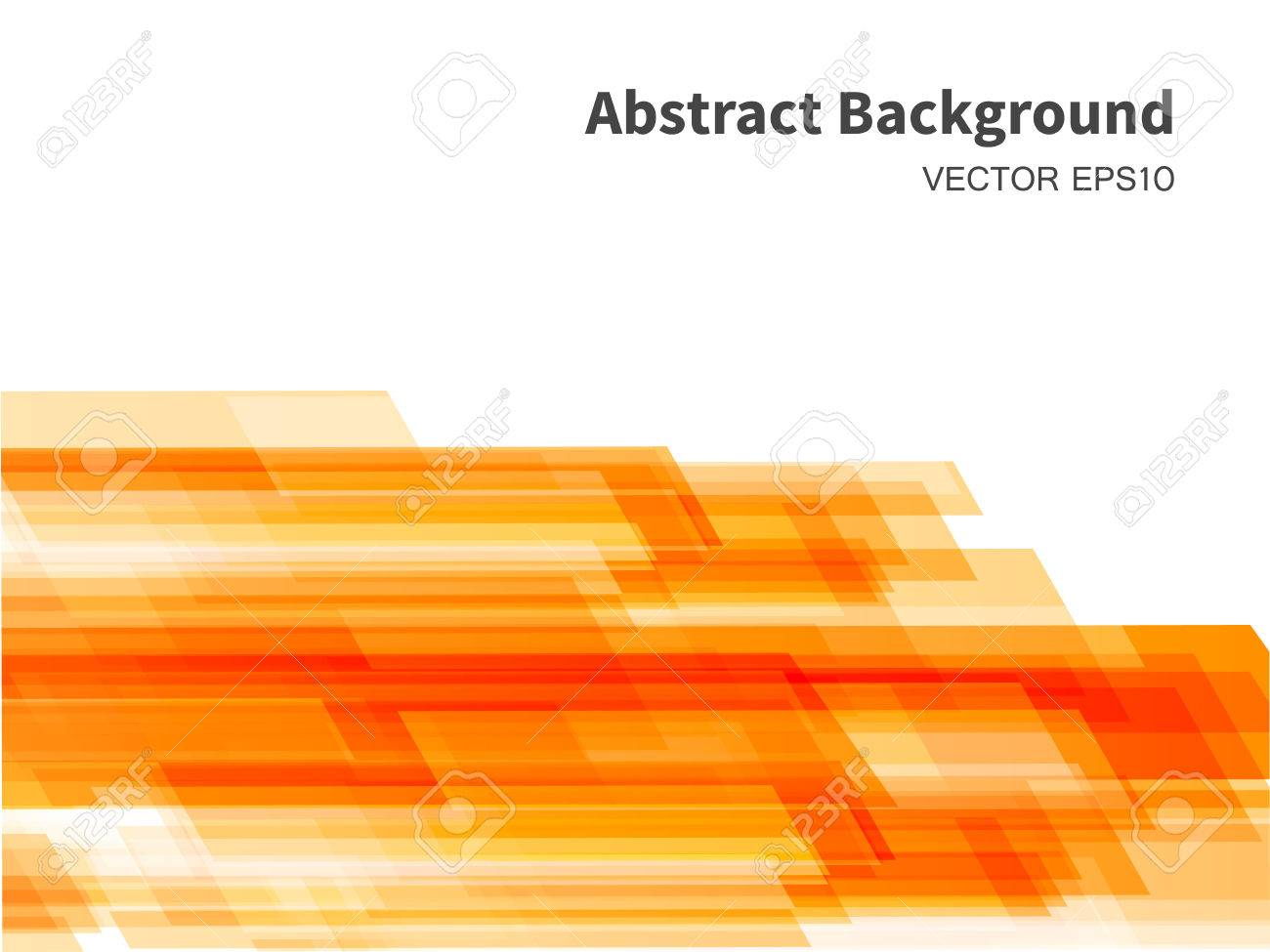 Orange Abstract Background With Transparent Rectangular Shapes