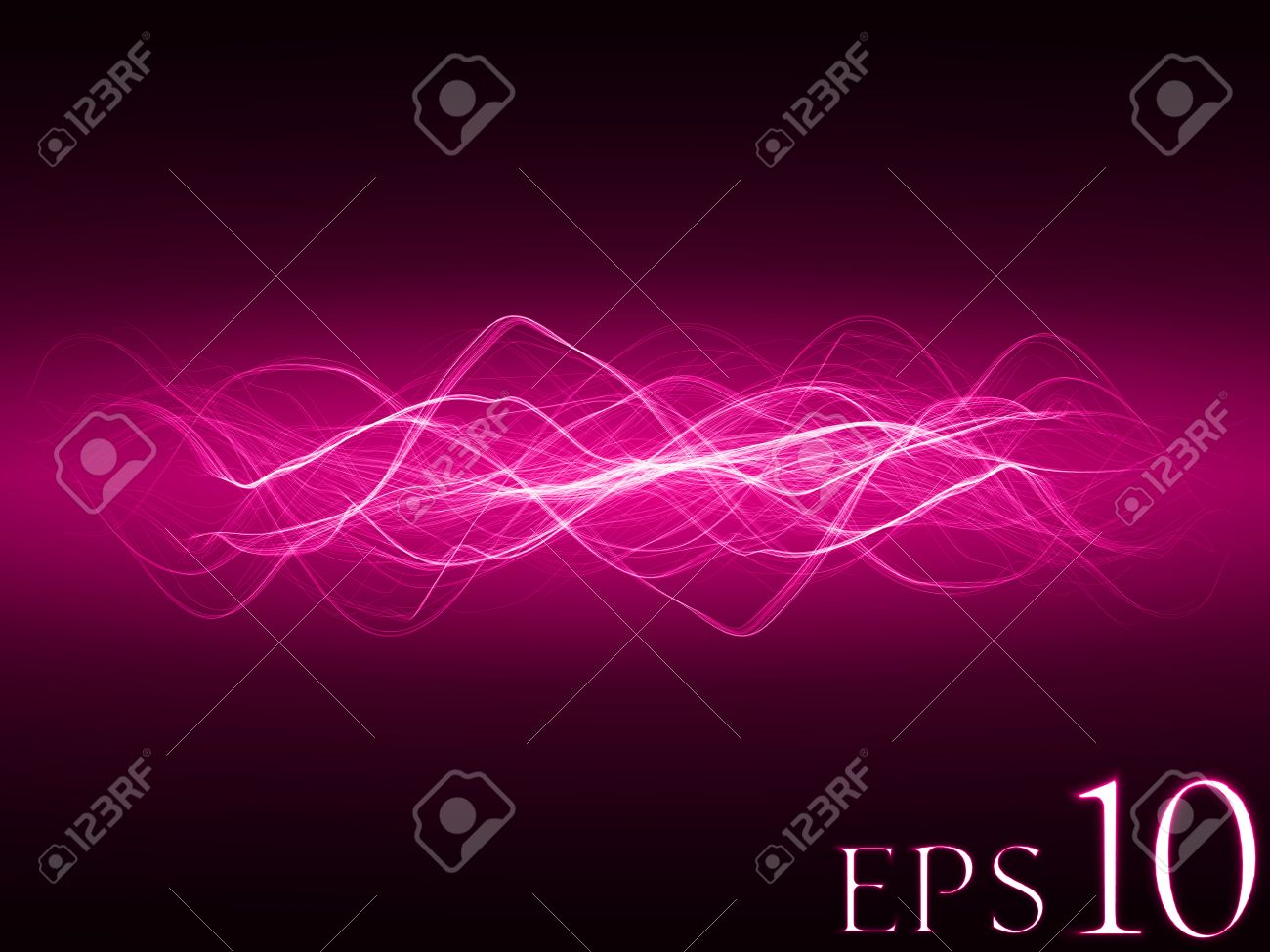 smooth energy waves (pink colored, wide waves version)